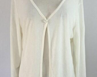 Vintage 90s White Sheer Cardigan Size L
