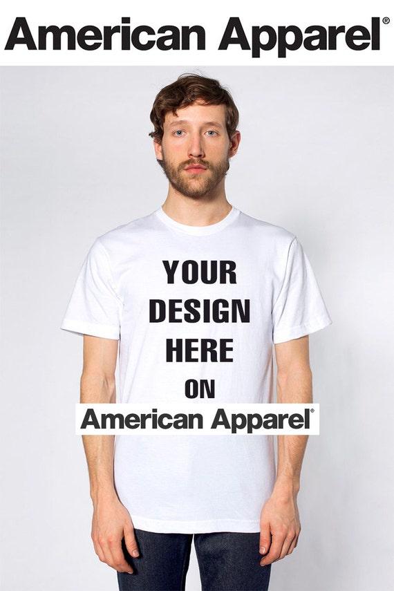American apparel adult 39 s custom t shirt printing no by prnnt for American apparel custom t shirt printing