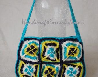 READY TO SHIP Chic granny squares crochet bag