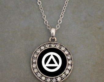 Alcoholics Anonymous Recovery Necklace