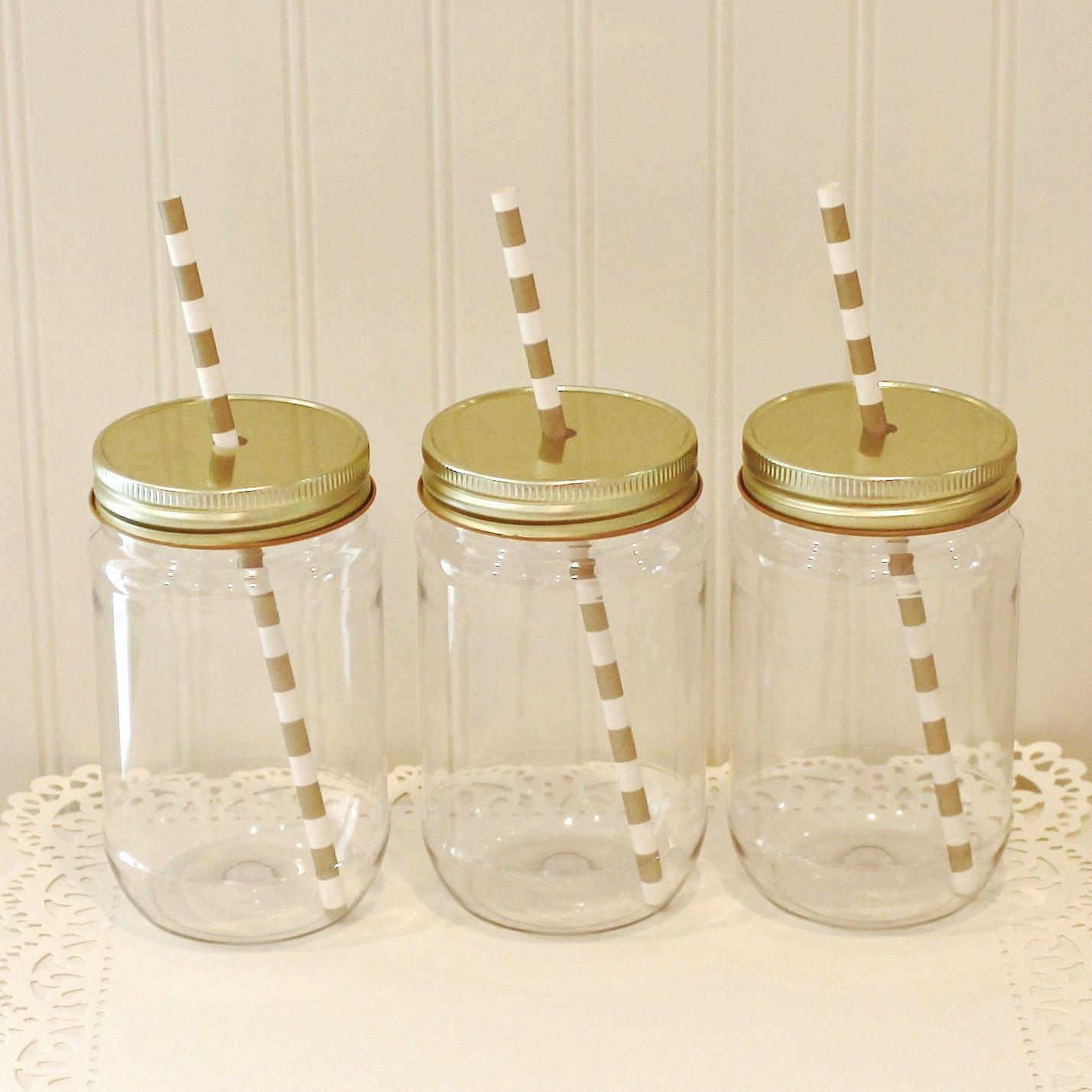 plastic mason jars 10 plastic mason jars metal lid with. Black Bedroom Furniture Sets. Home Design Ideas