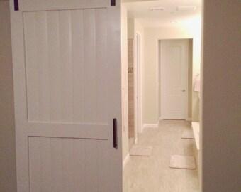Custom White Sliding Barn Door *Local Pick Up Only