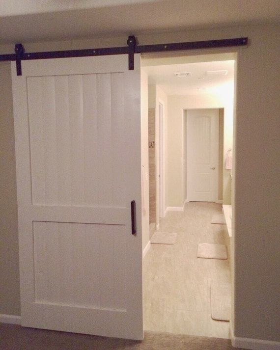 items similar to custom white sliding barn door local