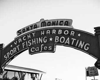 Santa Monica Print, California Art, Santa Monica Pier, Los Angeles Art, Santa Monica Beach, Travel Photography