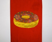 "Heavenly Donut #75 (ARTIST TRADING CARDS) 2.5"" x 3.5"" by Mike Kraus Free Shipping"