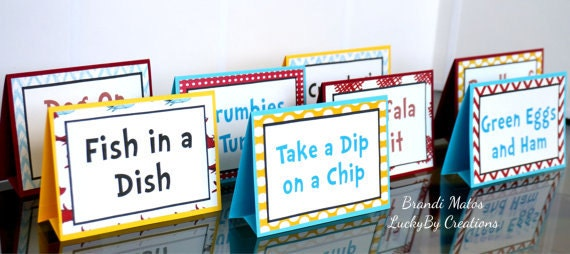 Printable Dr Seuss Party Signs!