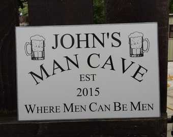 Personalised Man Cave Sign, Gift for Him, Dads Shed, Shed Sign, Man Cave Sign, Den Sign, Custom Sign, Large, 297