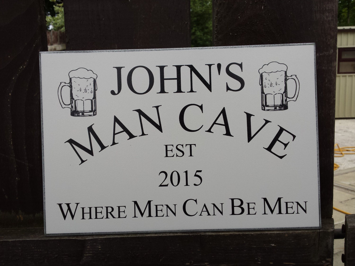 Cool Man Cave Signs : Personalised man cave sign gift for him dads shed