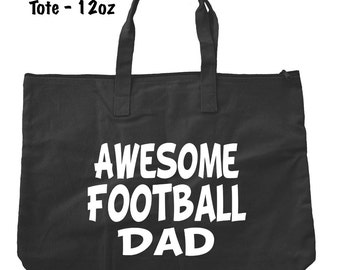 Awesome Football Dad Tote Bag - Football Tote Bag - Bags and Totes - Football Dad Bag - Football Present - Gifts For Dad