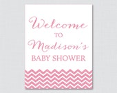 Pink Baby Shower Welcome ...