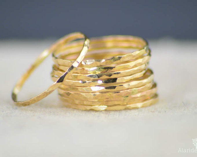 Super Thin 14k Gold Stackable Ring(s), thin ring, midi ring, skinny gold ring ,simple gold ring,minimal gold ring.thin gold ring,Gold Ring