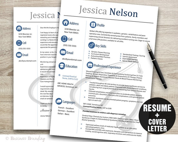 medical resume templateinstant download medical resumeresume cover letter template nurse resume template word cv template stethoscope - Medical Resume Cover Letter