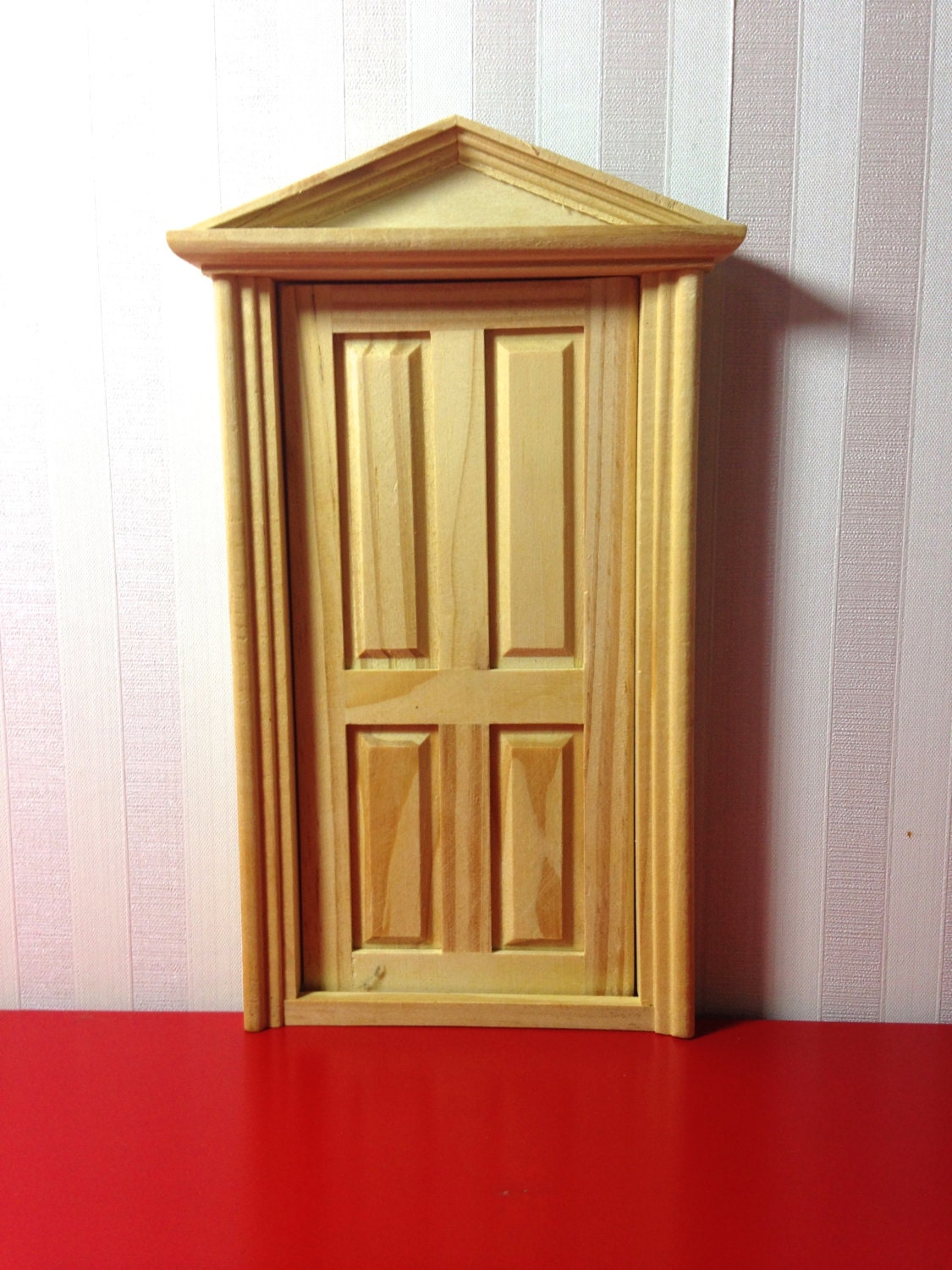 1500 #B41719 Fairy Door Unfinished Wood Dollhouse Front Door By OneColonTwelve pic Unfinished Wood Doors 40711125