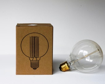 Vintage Edison Filament Bulb (G95) Globe - E27 ES Edison Screw - 220V - 40W