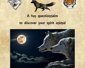Animal Totem, Spirit Animal, Questionnaire, Birthday present, Animal Lover, Animal Gifts