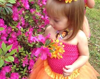 Dora the Explorer Inspired Birthday tutu (economy)