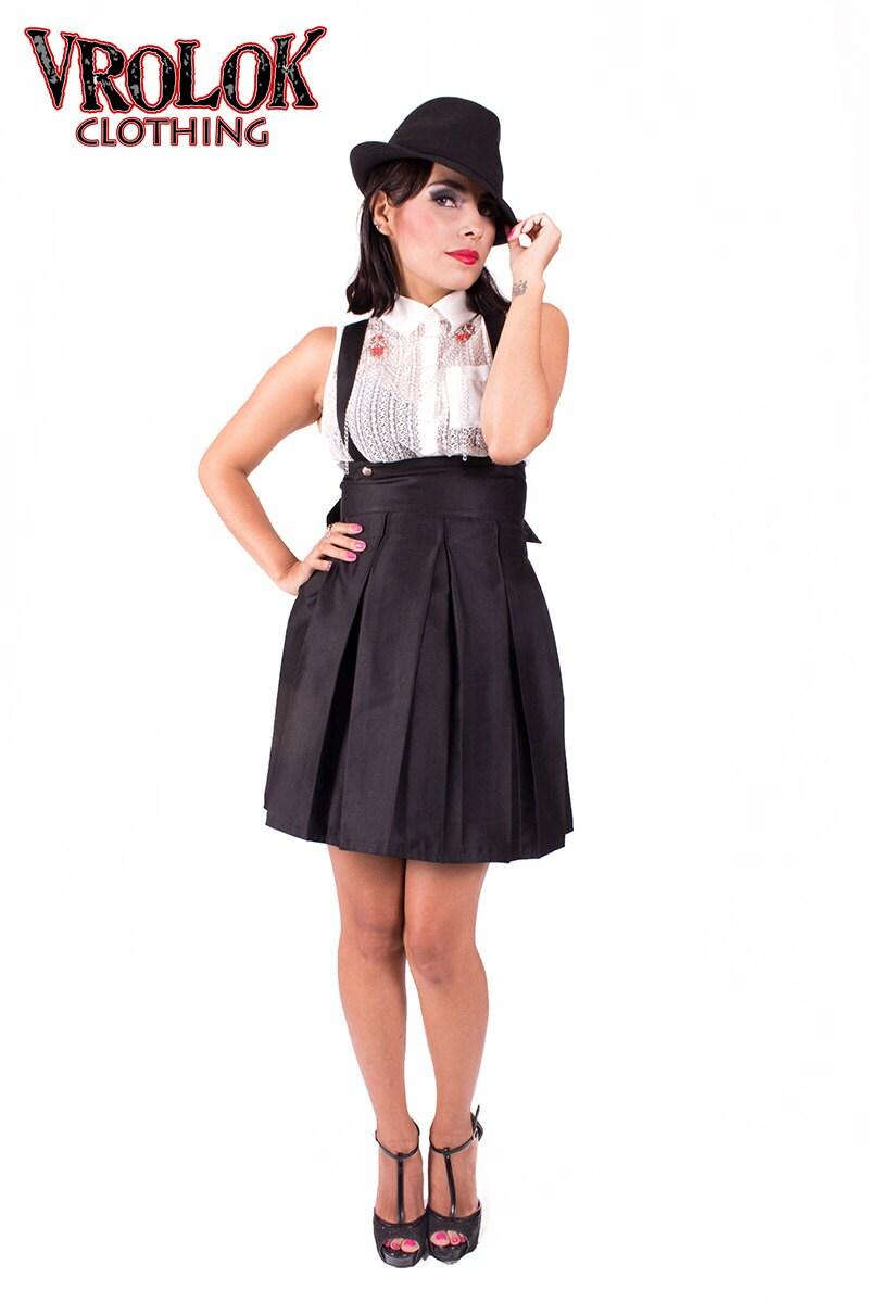suspender skirt corset skirt high waisted skirt by