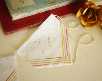 Vintage Inspired Handkerchief Banner