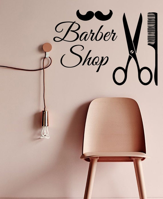 Custom Hair Wall Decals Men Barber Shop Interior Design - Custom vinyl wall decals for hair salonvinyl wall decal hair salon stylist hairdresser barber shop