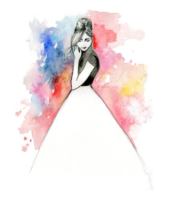 gicl233e art print fashion illustration pencil sketch