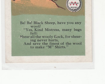 Advertising Minneapolis Knitting Works C1910 Bah! Bah! Black Sheep Antique Postcard