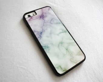 Marble x Rainbow iPhone Case 4 / 4s / 5 / 5s / 5c / 6 / 6 Plus Cover | Silicone available