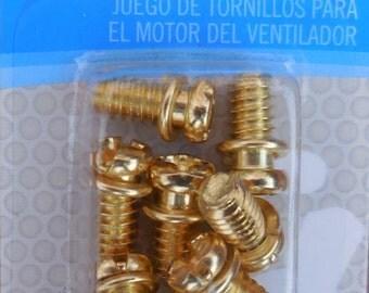 Ceiling fan blades etsy for Ceiling fan motor screws