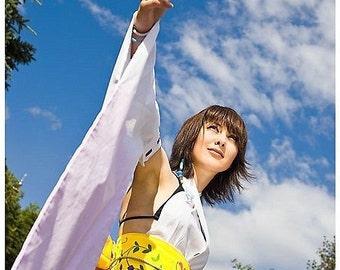 Final Fantasy YUNA Kimono Dress Cosplay Costume Adult