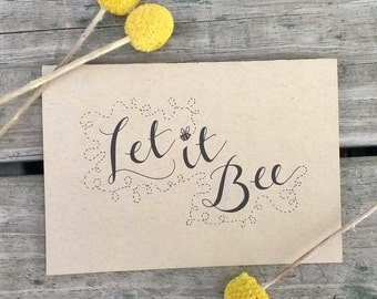 Bee Note Card Set, Blank Note Cards, Let It Bee, Let It Be Note Cards