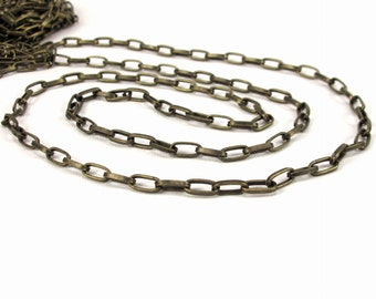 4.5x10.5mm rectangle link chain, nickel-free antiqued brass, 16g wire, 5 yards or 10 yards, 10mm link chain, long oval link chain (2516ch)