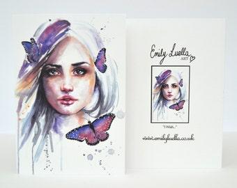 """Fine Art Greeting Card - I Wish... 6"""" x 4"""""""