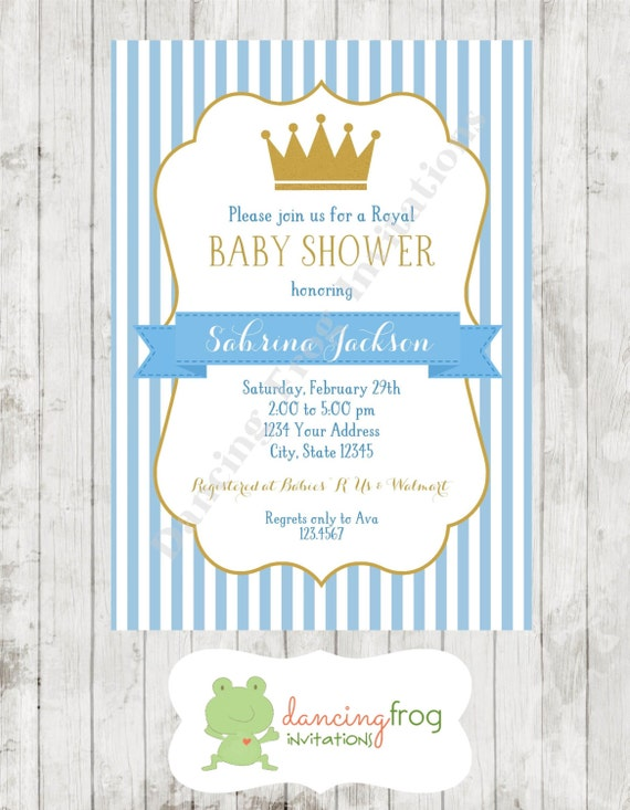 royal prince baby shower invitation printed royal baby shower