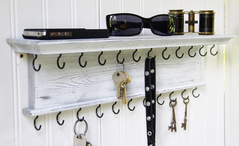 Key Holder Wall Shelf Modern Rustic By Barretthillwoodcraft
