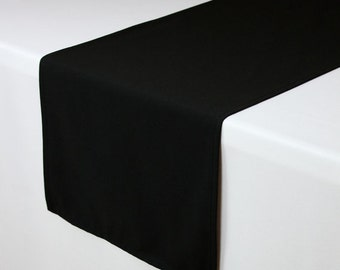 Black Table Runner 14 x 108 inches | Black Table Runners for Weddings, Banquet Events, Hotels and Restaurants
