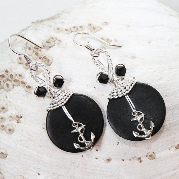 Anchor Earrings Nautical Jewelry Anchor Jewelry Sea Theme