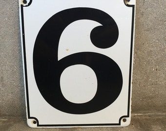 Vintage Porcelain Sign #6 (6D8NRU)