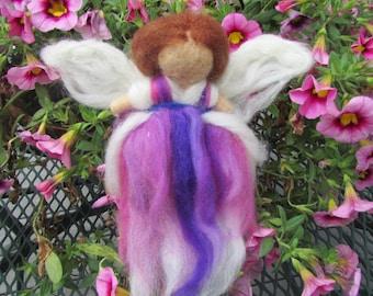 Needle Felted Purple Fairy