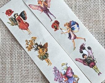 Stickers Flower Fairies, Sticker, Fairy Stickers,Fairy Birthday Party,Fairy Baby Shower,Gift Wrap,Favor Bags,Envelope Seals,Fairy Sticker