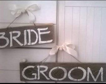 wedding decor, bride and groom, wedding, rustic sign, photo prop, shabby chic,  vintage, wood signs, reclaimed wood, handmade