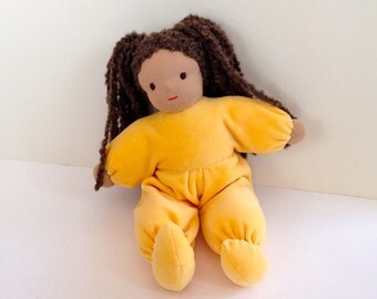 Katie 30 cm 12 inches all natural organic Waldorf Style doll with  tan skin