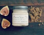 Brown Sugar Fig - Mason Jar Soy Candle - phthalate free soy candle - brown sugar, fig
