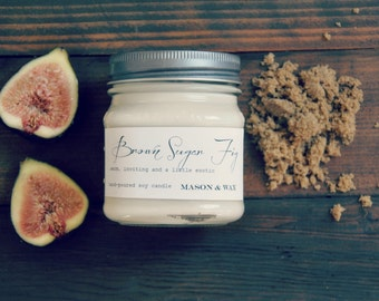 Brown Sugar Fig Mason Jar Soy Candle