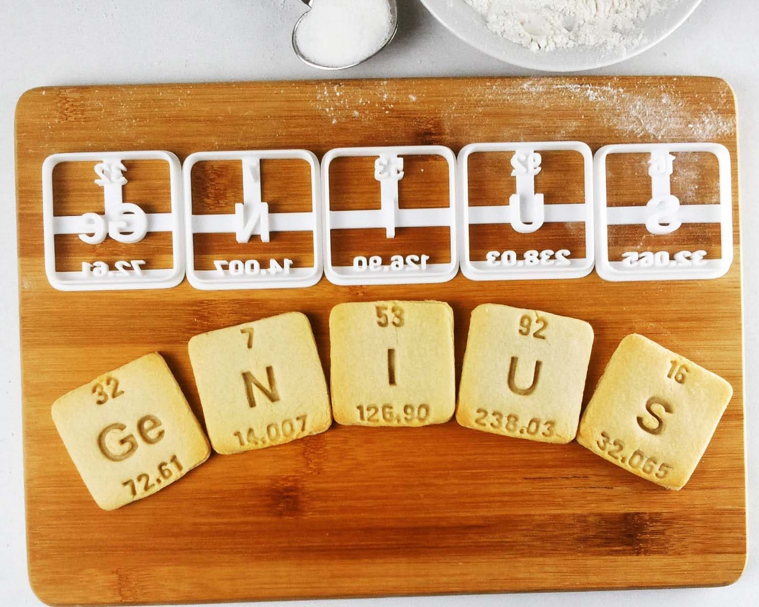 Genius and nerdy cookie cutters periodic table elements zoom gamestrikefo Choice Image