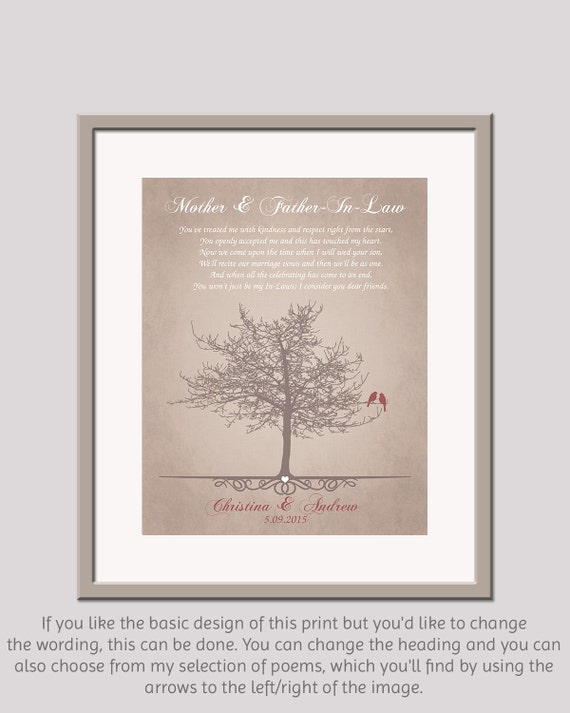 Wedding Gift For Grooms ParentsIn Law Wedding GiftFather In Law ...