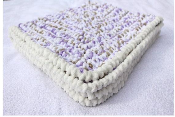 Crochet Chenille Baby Blanket Pattern : Lilac Baby Blanket Crochet Baby Blankets by ...