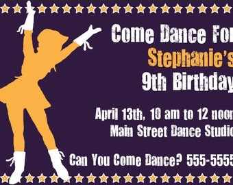 Dancing Birthday Invitation