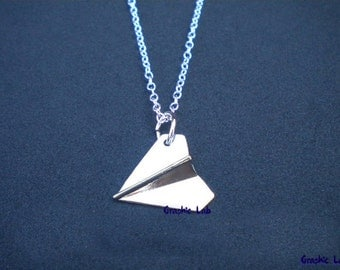 Necklace silver Airplane One Direction Harry Styles