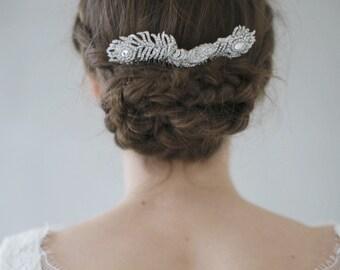 SALE *****Victoria leaf rhinestone bridal comb
