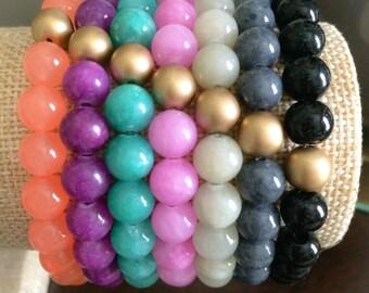 Stackable Gemstone Bracelets