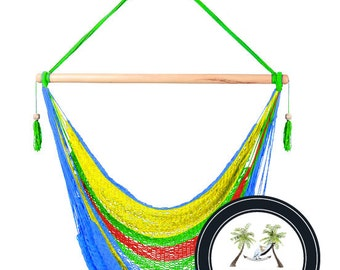 Tropical Hammock Chair - 100% Hand Woven - Perfect for one child, teen or adult!